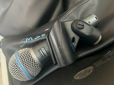 Shure Beta 58A Professional Vocal Dynamic Microphone Live PA/Studio Mic + Case • 99£