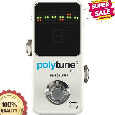 TC Electronic Guitar Pedal Tuner Polytune 3 Mini With High Quality Tone Tool NEW • 85.53£