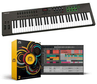 Nektar Impact LX61+ And Bitwig Studio 2 Bundle (NEW) • 399£