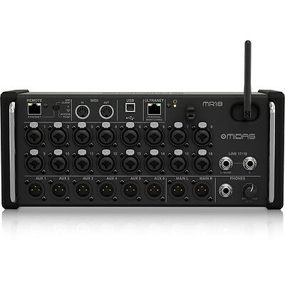 Midas MR18 18-Input IOS/Android Tablets Preamps Wifi USB Interface Digital Mixer • 703.40£