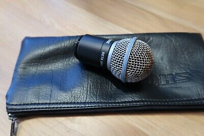 Shure Beta 58a Radio Mic Head.  Dirty Grill. Tested Working • 42.99£