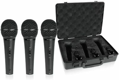 Behringer - XM1800S - Dynamic Wired Professional Microphone - Set Of 3 • 50.62£