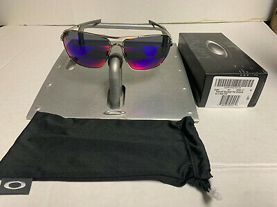 Oakley PLAINTIFF SQUARED Polished Chrome W Red Iridium Lenses OO4063-07 63mm • 223.39£