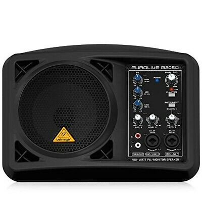 BEHRINGER PA Speaker System For Monitors B205D Ultra-compact 150 Watts Black • 299.43£