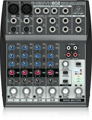 Behringer 8 Input 2 Mono Stereo Output Compact Mixer 802 XENYX Audio Equipment • 88.44£