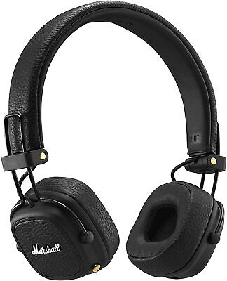 Marshall Major 3 Voice Bluetooth Headphones, Black ( Major III ) • 139£