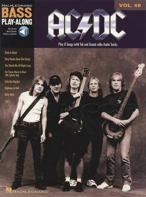 AC/DC Bass Guitar Play-Along Vol 40 TAB Book & Audio Back In Black Rock • 14.35£