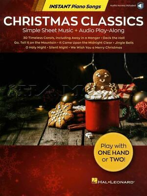 Christmas Classics Instant Piano Songs Sheet Music Book/Audio SAME DAY DISPATCH