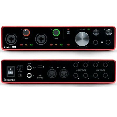 FOCUSRITE SCARLETT 8i6 (3rd Gen) Recording Studio USB Interface With Software • 226.98£