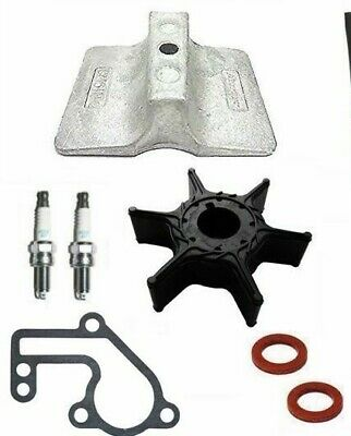 SERVICE PARTS KIT 9.9HP YAMAHA MARINER 9.9F Outboard 2 Stroke Impeller Anode • 37.50£