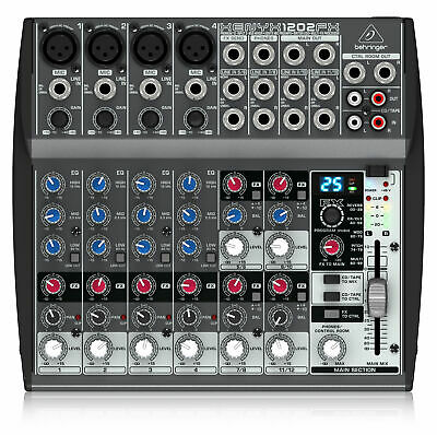 Behringer Xenyx 1202FX Mixer 12-Channel 4 Mic Inputs 2 Bus 3-Band EQ Analogue • 92.99£