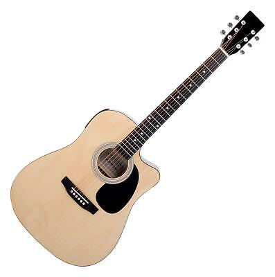 Dreadnought Acoustic Classic Guitar with Pickup Preamp 3-Band EQ LCD Display