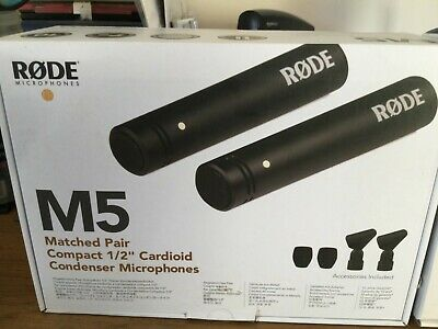 "RØDE M5 Matched Pair Of Compact 1/2"" Condenser Microphones • 122£"