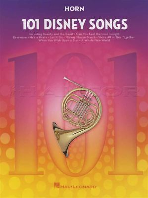 101 Disney Songs For French Horn Sheet Music Book Frozen Lion King Toy Story • 12.74£