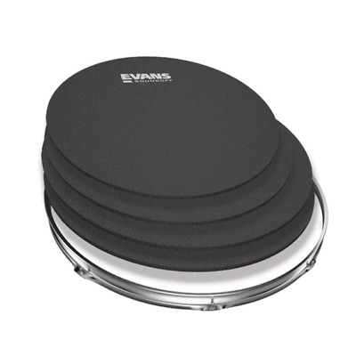 SoundOff by Evans Fusion, Rock or Standard Drum Mute Pack, Practice Pad