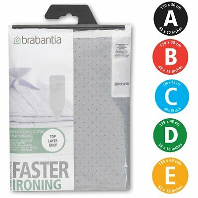 Brabantia Replacement Silver Heat Reflective Ironing Board Cover Size A B C D E • 11.99£