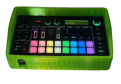 Case For Roland MC-101.  3D Printed Rubber Protective Case. Neon Green