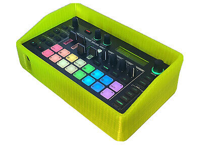 Case For Roland MC-101.  3D Printed Rubber Protective Case. Yellow