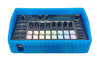 Case For Roland MC-101.  3D Printed Rubber Protective Case. Teal