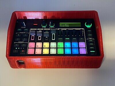 Case For Roland MC-101.  3D Printed Rubber Protective Case. Red