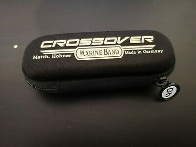 Marine Band Crossover case, key of Db sticker, and a free month of lessons