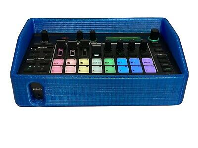 Case For Roland MC-101.  3D Printed Rubber Protective Case.  Blue