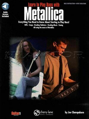 Learn to Play Bass with Metallica Guitar TAB Music Book/Audio SAME DAY DISPATCH