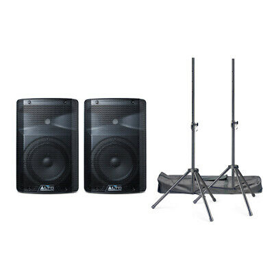 Alto TX208 Active PA Speaker Bundle With Stands And Cables (NEW) • 249£