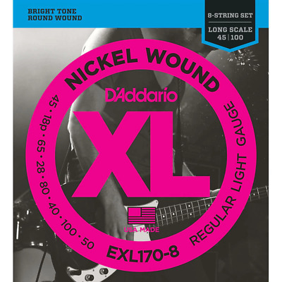 D'Addario EXL170-8 8-String Nickel Wound Bass Strings, 32-130, Long  • 42.50£