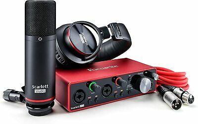 Focusrite Scarlett 2i2 Studio 3rd Gen USB Audio Interface Bundle • 242£