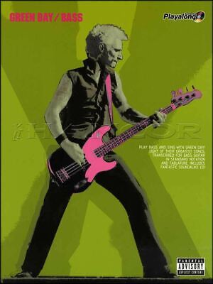 Green Day Bass Guitar Authentic Playalong TAB Music Book/CD SAME DAY DISPATCH