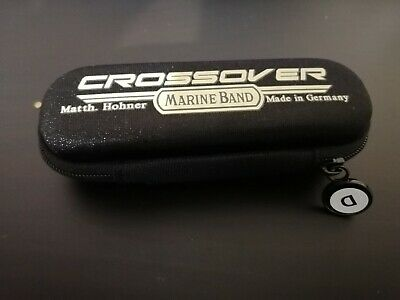 Hohner Marine Band Crossover Harmonica case, D sticker + free month of lessons