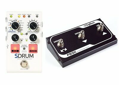 New Digitech SDrum Strummable Drums Guitar Pedal W/ FS3X Footswitch • 129.21£