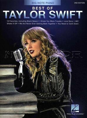Best of Taylor Swift for Big-Note Piano Sheet Music Book SAME DAY DISPATCH