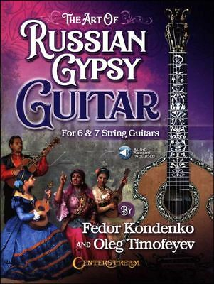 The Art of Russian Gypsy Guitar TAB Music Book/Audio 6 & 7 String Guitars Songs
