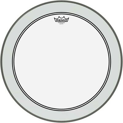 Remo P3 Powerstroke 3 Clear Bass Drum Head 18, 20 or 22