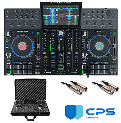 Denon DJ Prime 4  PROtection  Bundle With Case, XLR Cables And 2 Year Accidental • 1,431.56£