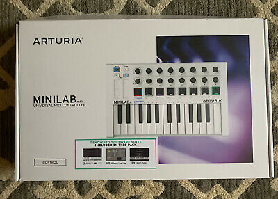 Arturia Minilab White Universal Midi Controller MkII Used Once Excellent • 59.58£