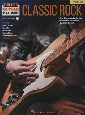 Deluxe Guitar Play-Along 7 Classic Rock TAB & Music Book/Audio SAME DAY DISPATCH