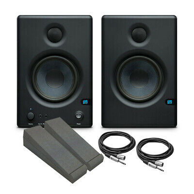Presonus Eris E4.5 Active Studio Monitor Bundle With Pads And Cables (NEW) • 179£