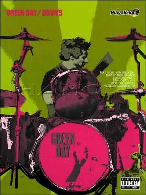 Green Day Drums Authentic Playalong Music Book/Audio Pop Punk SAME DAY DISPATCH