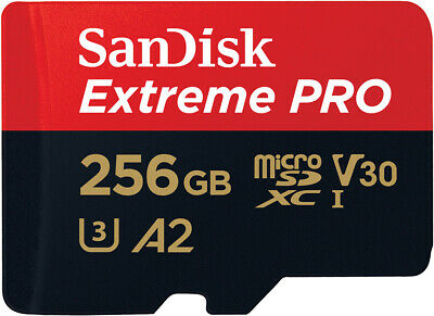 SanDisk 256GB Extreme Pro Micro SD Card U3, V30, A2, 170MB/s R, 90MB/s W • 51.22£