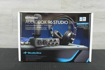 PreSonus AudioBox 96 Studio Recording Ultimate Bundle 25th Anniversary Black • 166.39£