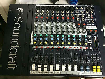 Good Condition Working Soundcraft EPM8 8 Channel Mixing Desk - Audio Production • 75£