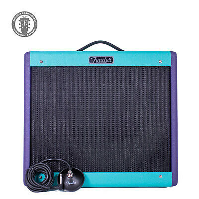 New Fender Limited Edition Blue Junior IV Eminence Cannabis Rex Purple/Seafoam! • 506.51£