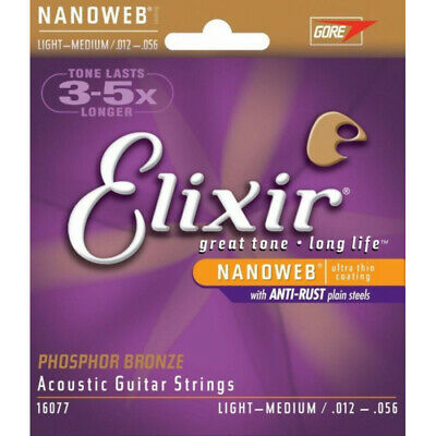 Acustica Elixir 16102 Nanoweb Phosphor Bronze Medium 13 - 56 • 15.59£