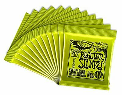 Ernie Ball 12 Sets 2221 Regular Slinky Strings With Picks • 67.12£