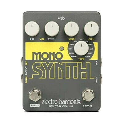 ELECTRO-HARMONIX Guitar Synthesizer Effector Mono Synth Gray Audio Equipment • 126.83£