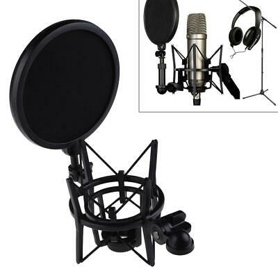 Pro Microphone Mic Shock Mount With Shield Filter Screen Fits For Rode K2 • 8.84£