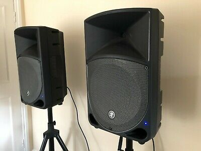 Mackie Thump 12A Active 12  DJ Disco Musician Band PA Speakers Stands Cables • 475£